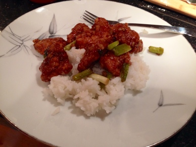 homemade General Tso's chicken